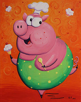 This Little Piggy Baked Cupcakes by Jennifer Alvarez