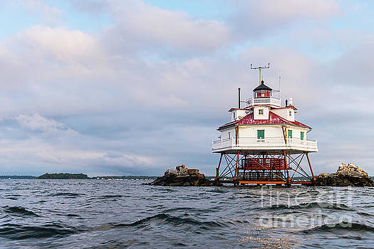 Thomas Point Lighthouse in the Chesapeake Bay by Brycia James