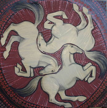 Three Horses by Sophy White