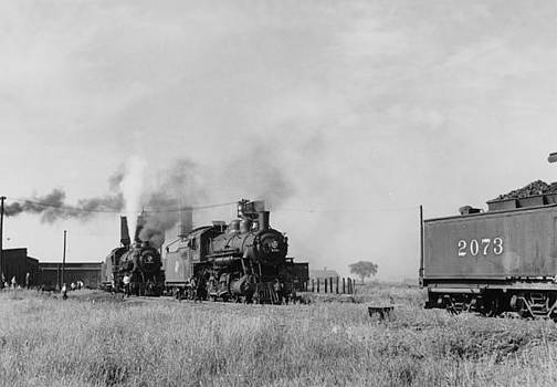 Chicago and North Western Historical Society - Steam Engines Near Fond du Lac