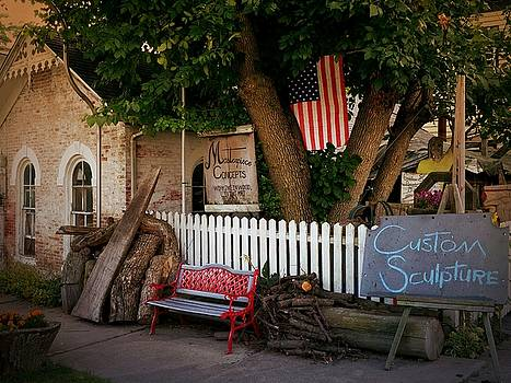 Tipp City Red Bench by Michael L Kimble