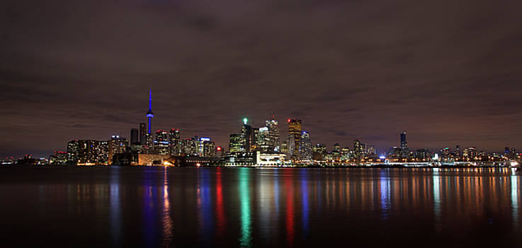 Toronto Night Skyline by Gej Jones