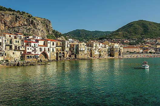 Town Of Cefalu Sicily by Xavier Cardell