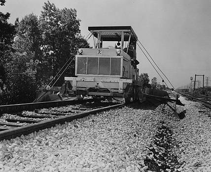Chicago and North Western Historical Society - Track Machine at Work - 1957