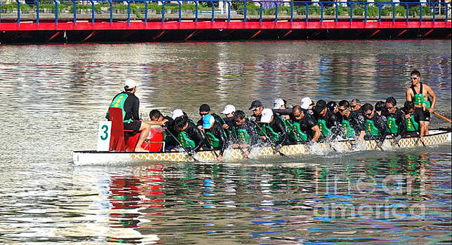 Training for the Dragon Boat Races in Taiwan by Yali Shi