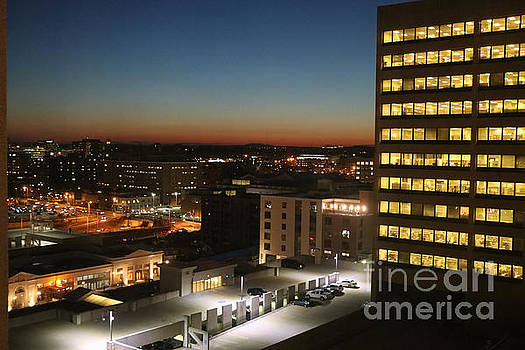 Travelers Insurance Company at Night by Thomas Marchessault