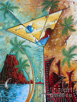Tropical Martini Original Painting Fun PoP Art Style by Megan Duncanson by Megan Duncanson