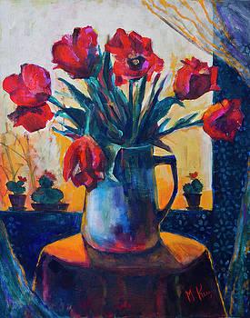 Tulips and cacti by Maxim Komissarchik