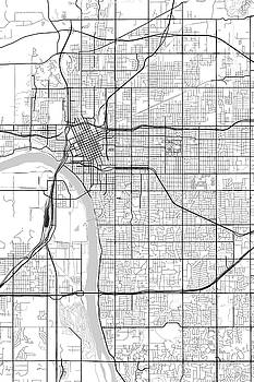 Tulsa Oklahoma Usa Light Map By Jurq Studio