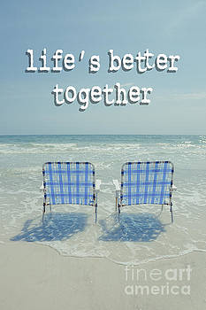 Edward Fielding - Two Empty Beach Chairs