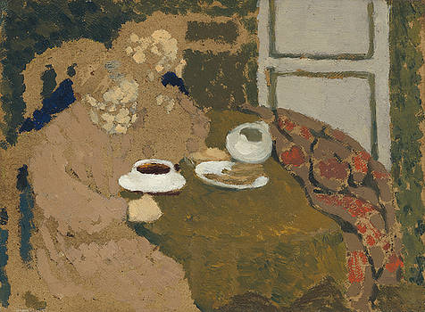 Two Women Drinking Coffee by Edouard Vuillard