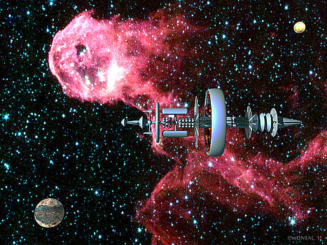 Walter Oliver Neal - United Earth Space Federation Star Ship Hawkins 3