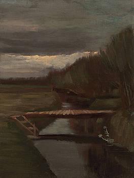 Van Gogh Ditch and Small Bridge by Vincent Van Gogh