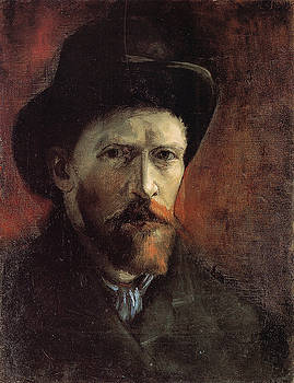 Van Gogh Self Portrait Dark Felt Hat by Vincent Van Gogh