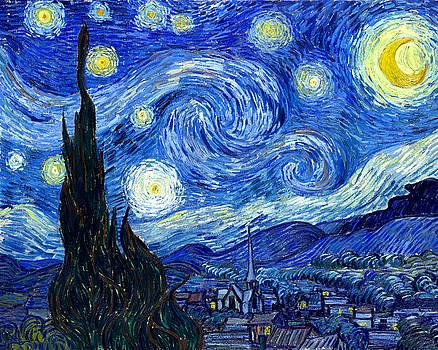 Van Gogh Starry Night by Vincent Van Gogh