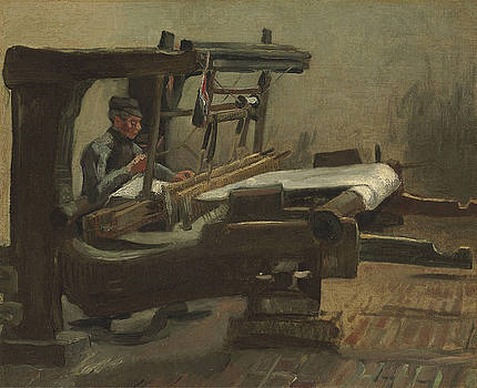 Van Gogh Weaver Facing Right by Vincent Van Gogh