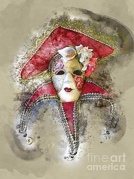 Venetian Mask-8 by Barbara Dudzinska