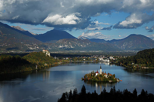 View of Lake Bled from Ojstrica by Ian Middleton