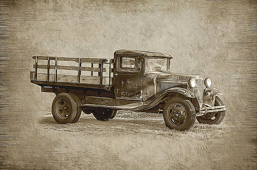 Vintage Truck by Cathy Kovarik