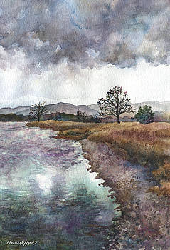 Walden Ponds on an April Evening by Anne Gifford