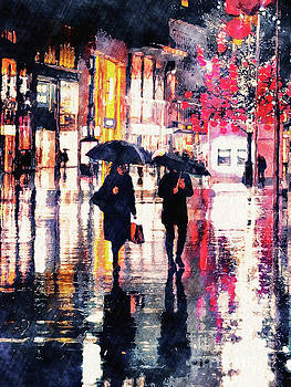 Walking In The Rain by Phil Perkins
