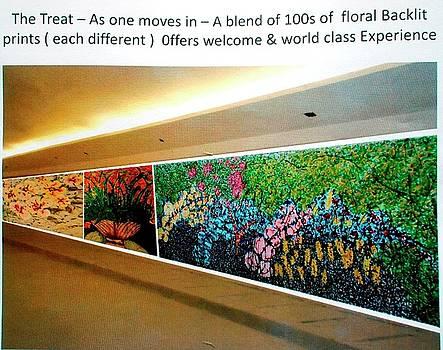 Wall Of Divine Blooms by Baljit Chadha