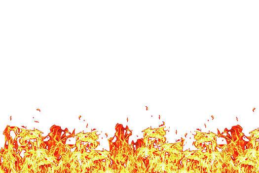Wall of fire by Lukasz Szczepanski