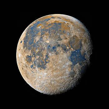 Waning Gibbous Moon / Day 18 by Bartosz Wojczynski