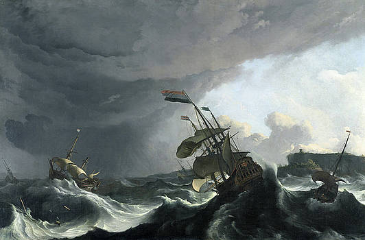 Ludolf Bakhuysen - Warships in a Heavy Storm
