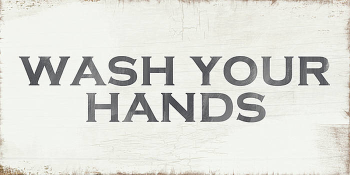 Wash Your Hands Modern Farm Sign- Art by Linda Woods by