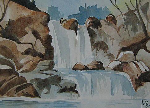 Water Falls by Akhilkrishna Jayanth