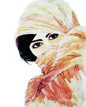 Watercolor Muslim Women by Rasirote Buakeeree