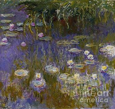 Monet - Waterlilies Yellow and  Lilac