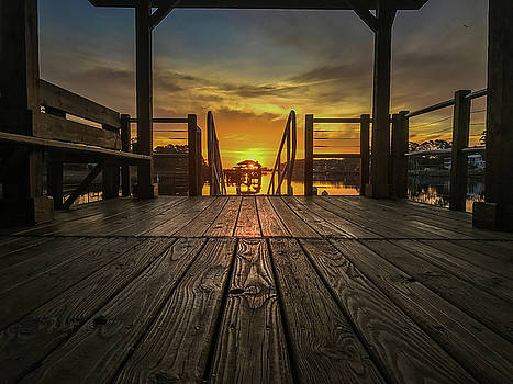 Waterway Park Sunrise.  by Nick Noble