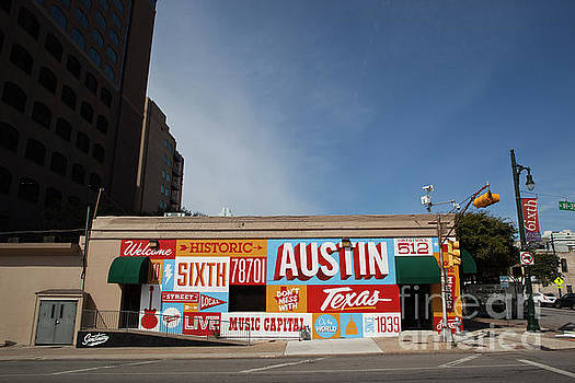 Herronstock Prints - Welcome to Historic Sixth Street mural is the gateway to the fam