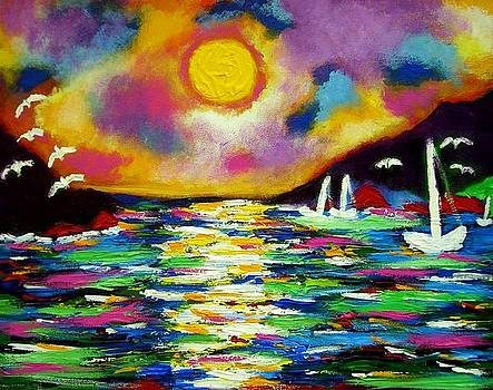 West Indian Sunset by Ted Hebbler