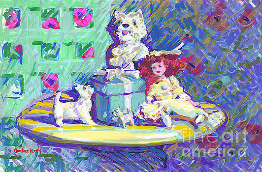 Westies, Tiffany and Candy by Candace Lovely