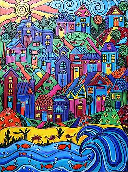 Whimsical Town by Cynthia Snyder