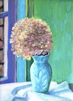 White Hydrangea by Jane  Simonson