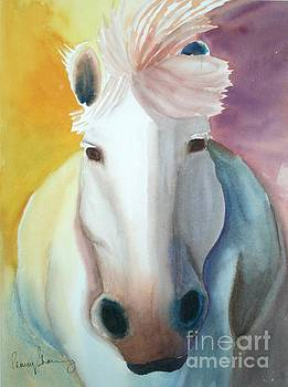 White Work Horse by Penny Stroening