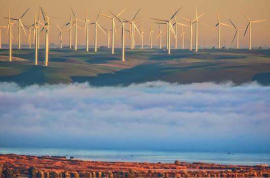 Marc Crumpler - Wind Turbines at Sunrise
