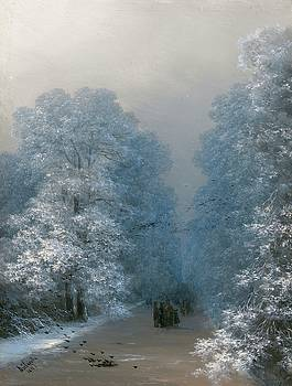 Winter Landscape  by Ivan Aivazovsky