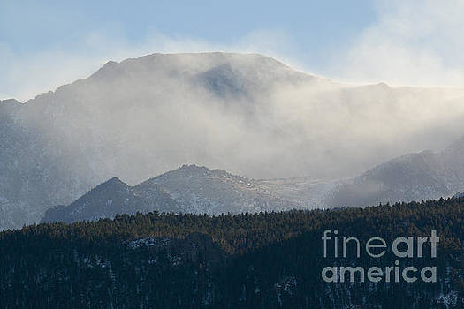 Steve Krull - Fog and Blowing Snow on Pikes Peak Colorado