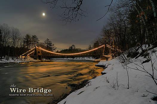 Wire Bridge Night by Patrick Groleau