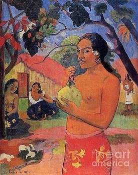 Gauguin - Woman Holding A Fruit