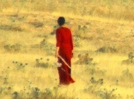 Woman in red by Bill Vernon