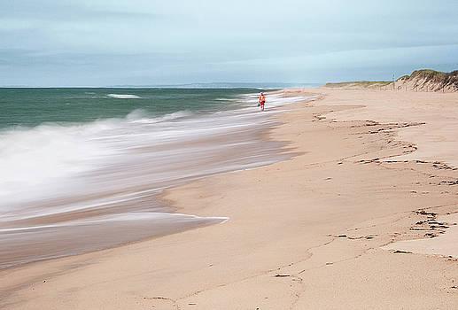 Woman on the Beach by Gordon Ripley