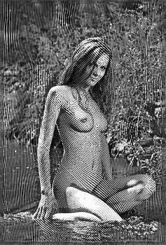 Woodcut Nude by Mario Carini