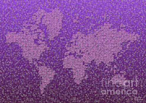 World Map Kotak in Purple by Eleven Corners