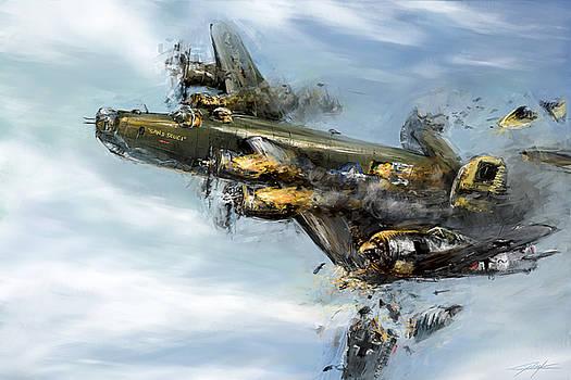 World War 2 B24 Sans Souci Taran attack by Ondrej Soukup